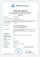 DIN 18800-7 Certificate