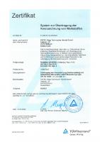 System zur Übertragung der Kennzeichnung von Werkstoffen