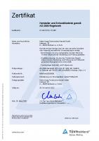Zert D – HP0 – 01 202 617-A-17 0467 – Hatec Haag Technischer Handel GmbH
