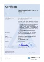 Zert E – HP0 – 01 202 617-A-17 0467 – Hatec Haag Technischer Handel GmbH